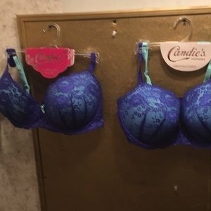 2 nwt sz 38 d push up bras by candies